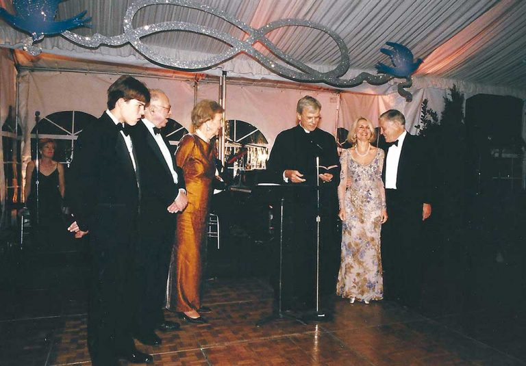 Tom Brokaw presided over the couple's vow renewal in 1999. Photograph courtesy of Sally Quinn.