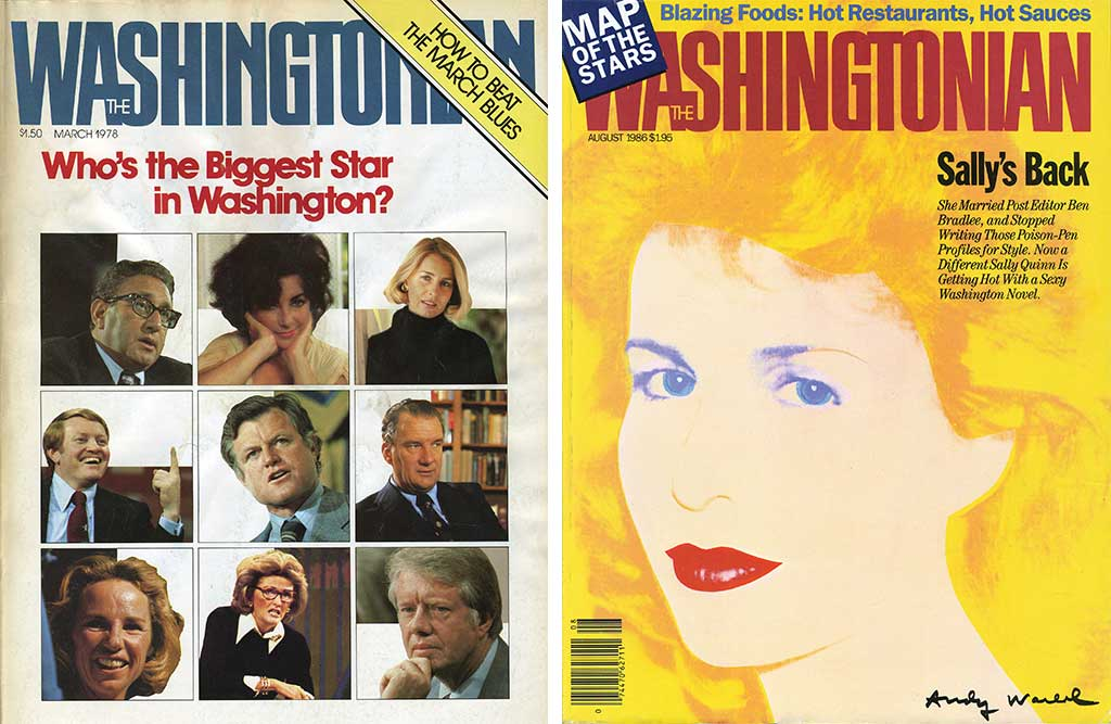 1978 and 1986 Washingtonian covers featuring Quinn.