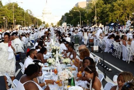 Dîner en Blanc Will Host Its Biggest Pop-Up Picnic in DC Yet With 5,000 People