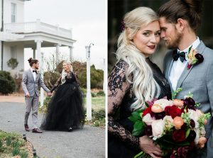 This DC Couple's Southern Gothic Anniversary Photoshoot Will Make You Fall in Love With Black Wedding Dresses