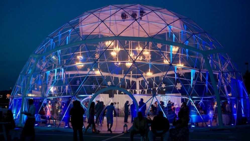 National Harbor's New Concert Venue Is a Giant Snow Globe