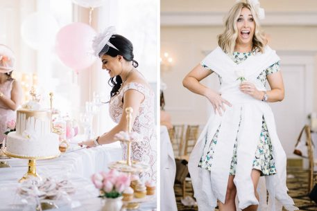 This Preppy Bridal Shower at Trump National Golf Club Ended in a Wild DIY Toilet Paper Dress-Making Contest