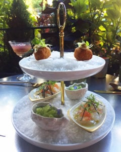 You Know Pineapple and Pearls Serves Snacks and Drinks on the Patio, Right?