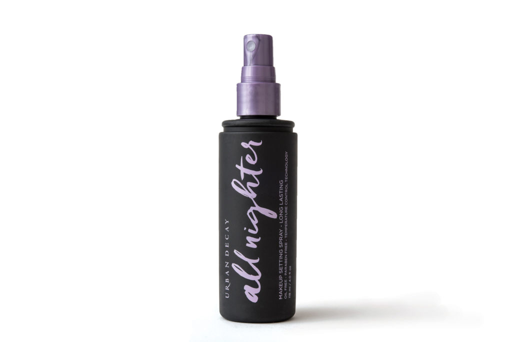 sweat-proof beauty products urban decay all nighter spray