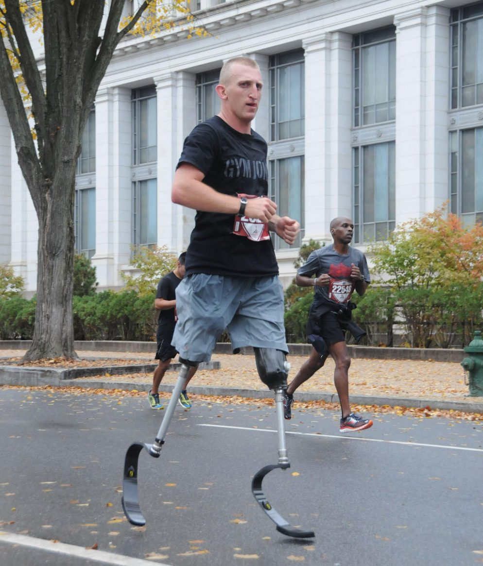 A Double-Amputee Marine Is Training To Run 31 Marathons In