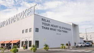 Yoko Ono Just Created a Huge New Mural at Union Market