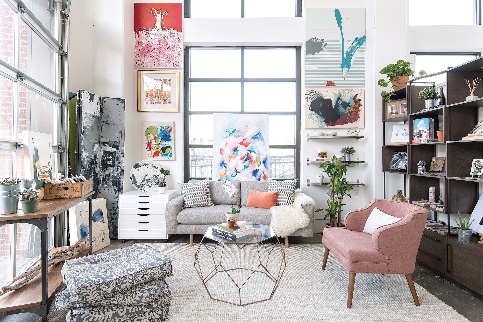 How a Decorator Helped This Artist Turn a Raw Space into a Gorgeous, Sun-Drenched Shop