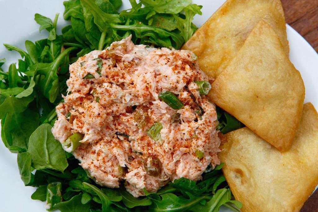 The Chesapeake Bay Salmon Salad At Chef Brianu0027s Comfort Kitchen.