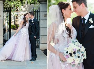 The Bride's Unexpected Lilac Dress at This St. Regis Garden Wedding Will Blow You Away