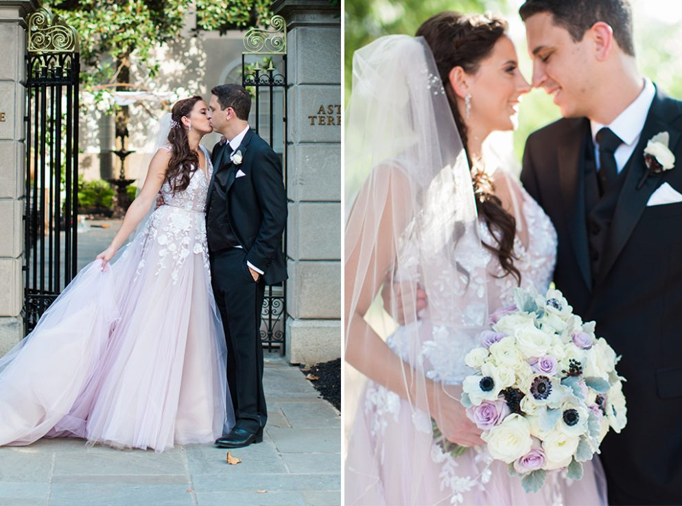 The Brides Unexpected Lilac Dress At This St Regis Garden Wedding Will Blow You Away
