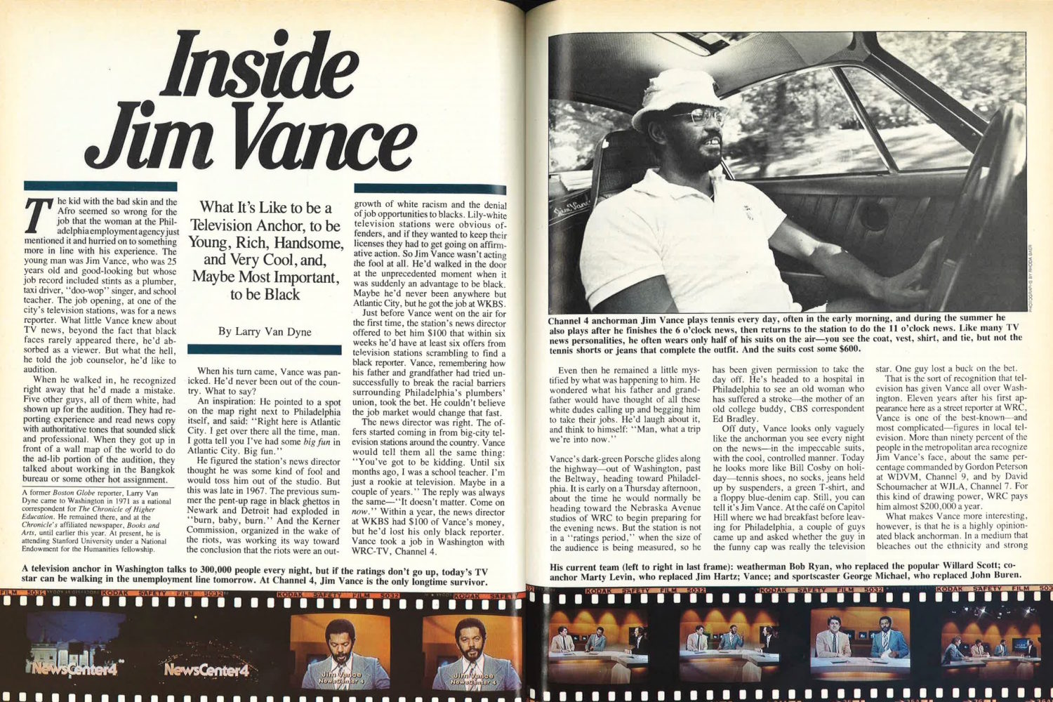 Jim Vance Washingtonian magazine 1980