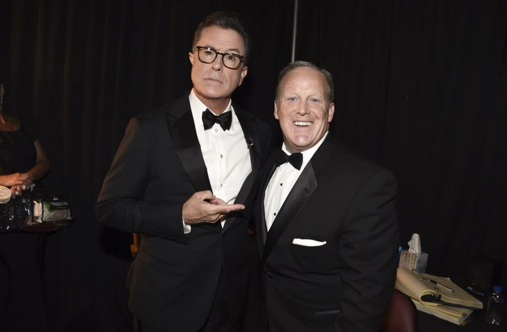 Sean Spicer Was on the Emmys Because DC Villains Always Get a Comeback Tour