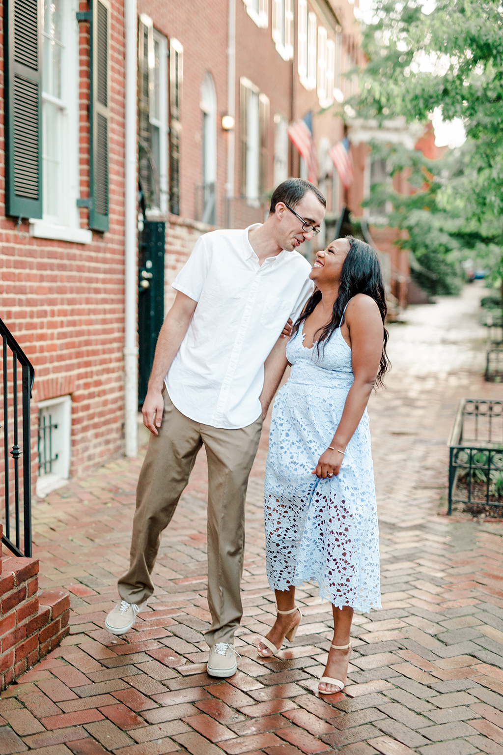 Magic Hour Engagement Photoshoot at the Historic Georgetown Canals and Waterfront Brooke McClure Daniel Scott