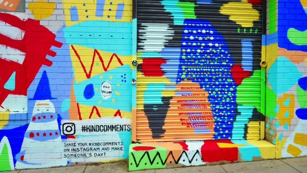 Instagram's #KindComments Campaign Is Coming to Union Market With An Inspiring New Mural