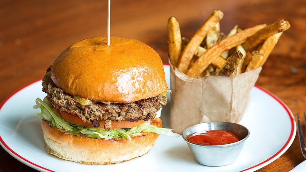 Founding Farmers' New Vegetarian Burger Smells, Tastes, and Bleeds Like Meat