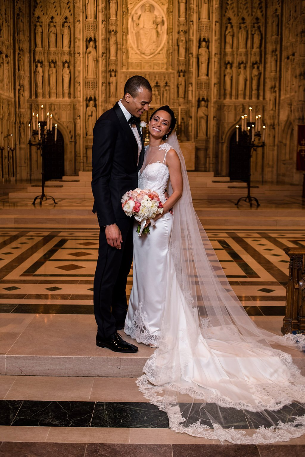 Pnina Tornai Silk Backless Gown National Cathedral Lauren Brown And Cameron Lewis