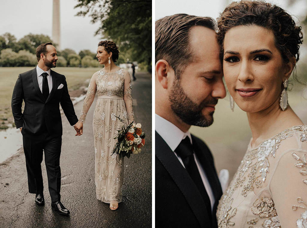 No Cake, No First Dance: How This Couple Pulled Off a Stunning Minimalist Wedding on the National Mall