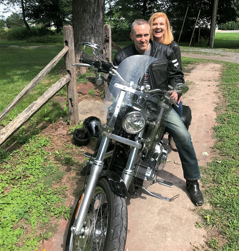 Those Two Middle-Aged Empty-Nesters Rocketing Through Maryland and West Virginia on a Harley? Yeah, That's Me and My Husband.