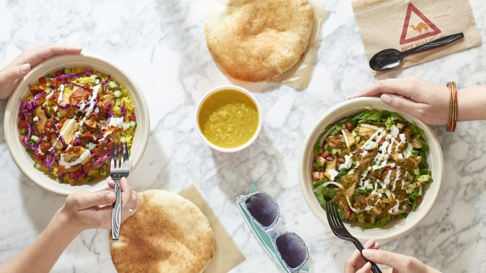 Fast-Casual Middle Eastern Chain Naf Naf Grill Opens Near Dupont with Shawarma and Falafel