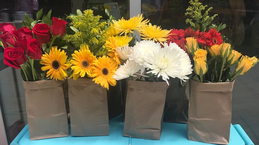 The paper bag flower company archives washingtonian you can use rescued flowers to create gorgeous bouquets at this pop up florist at citycenterdc the paper bag mightylinksfo