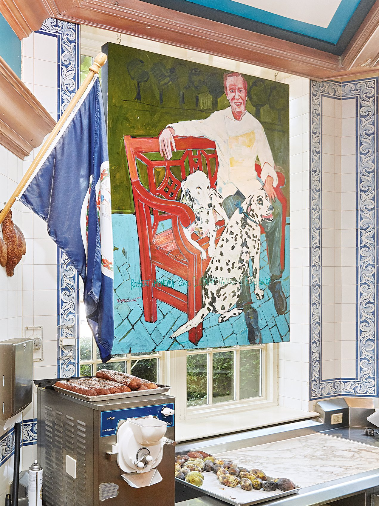 A painting of O'Connell and the inn's original dalmatians hangs in the kitchen.