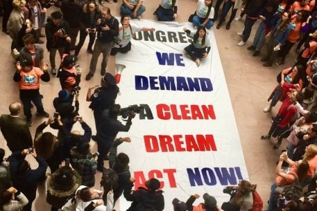 DC High School Students Take Over Senate Office Building for DACA Protest