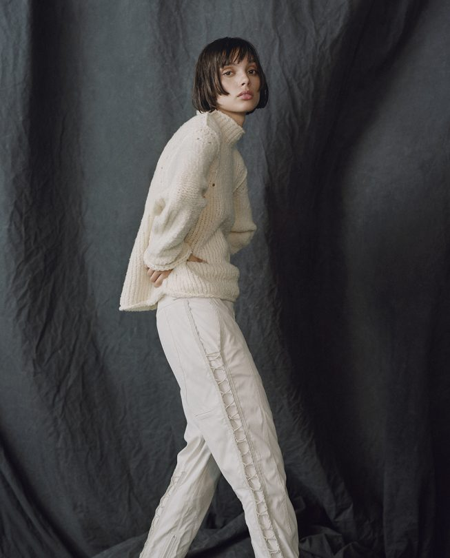 Hope Sweater in Moon & Echo Pant in Hoth