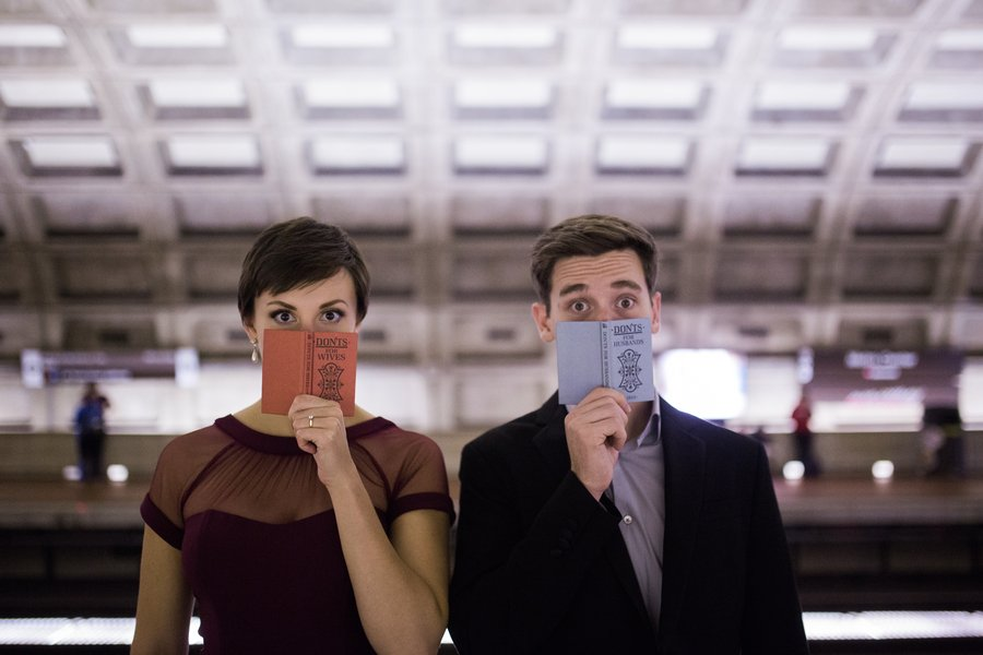 You'll Be Surprised by This Couple's Offbeat Engagement Photo Spots Around DC