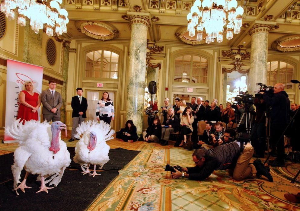 Photos: Presidential Turkeys at DC's Willard Hotel