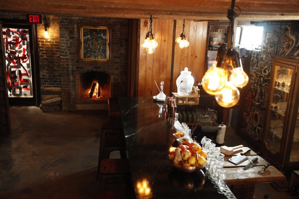 This Cozy New Shaw Bar Has an Awesome Fireplace, but No Name