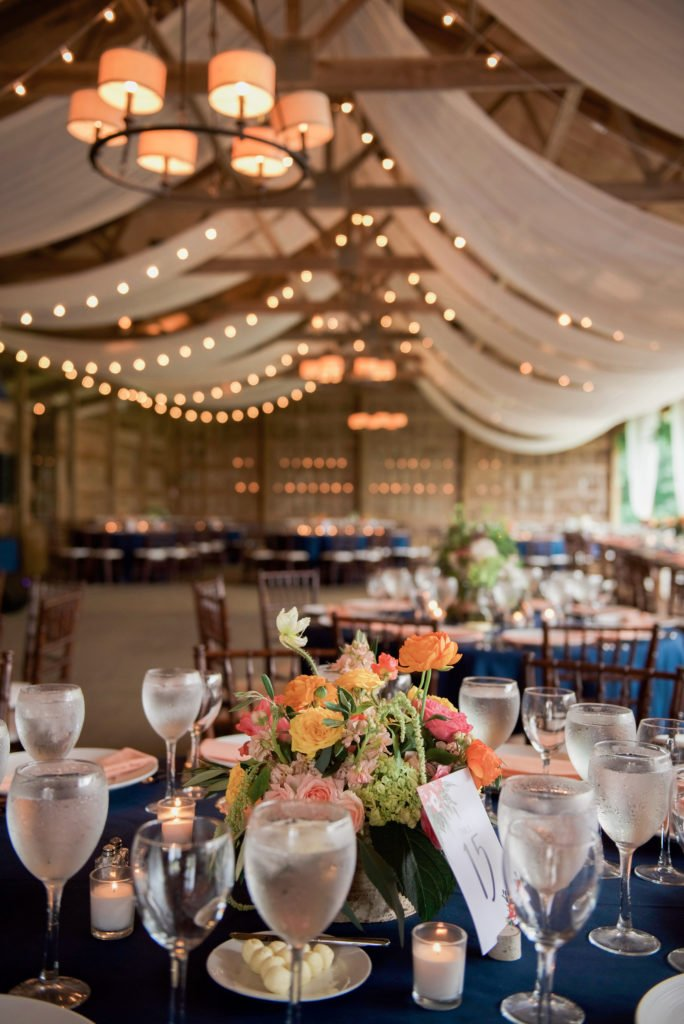 This JMU Couple's Rustic Virginia Barn Wedding Featured Dreamy Florals and a Traditional Iranian Sofreh