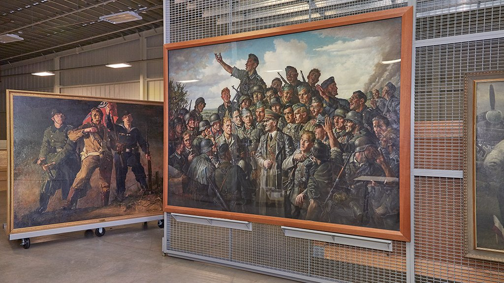 How A Trove Of Nazi Art Wound Up Under Lock And Key On An