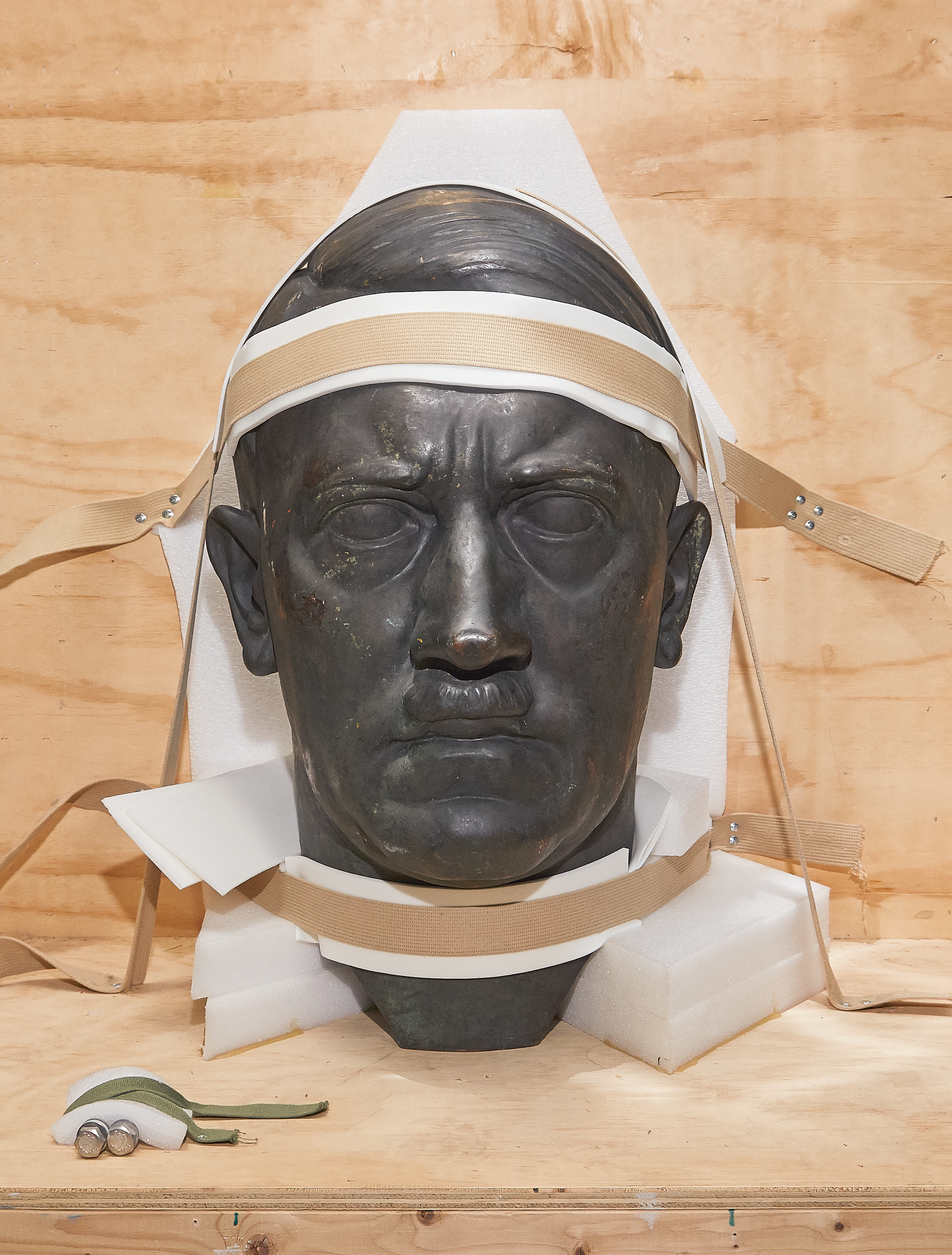 Fort Belvoir's three-foot bust of Hitler, one of the more dramatic pieces that the US Army requisitioned as the Third Reich fell.