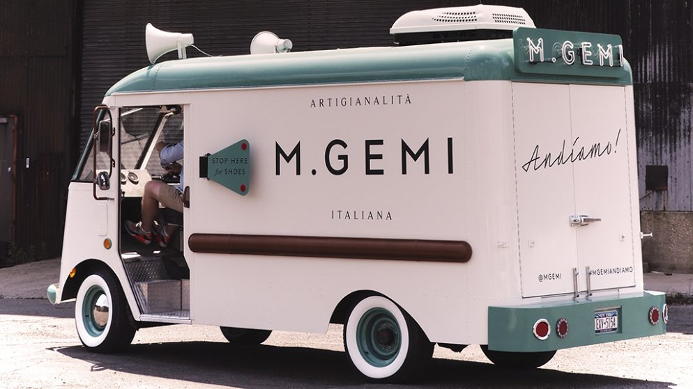 Keep an Eye Out for a Cute, Vintage Gelato Truck Selling Italian Shoes This Weekend