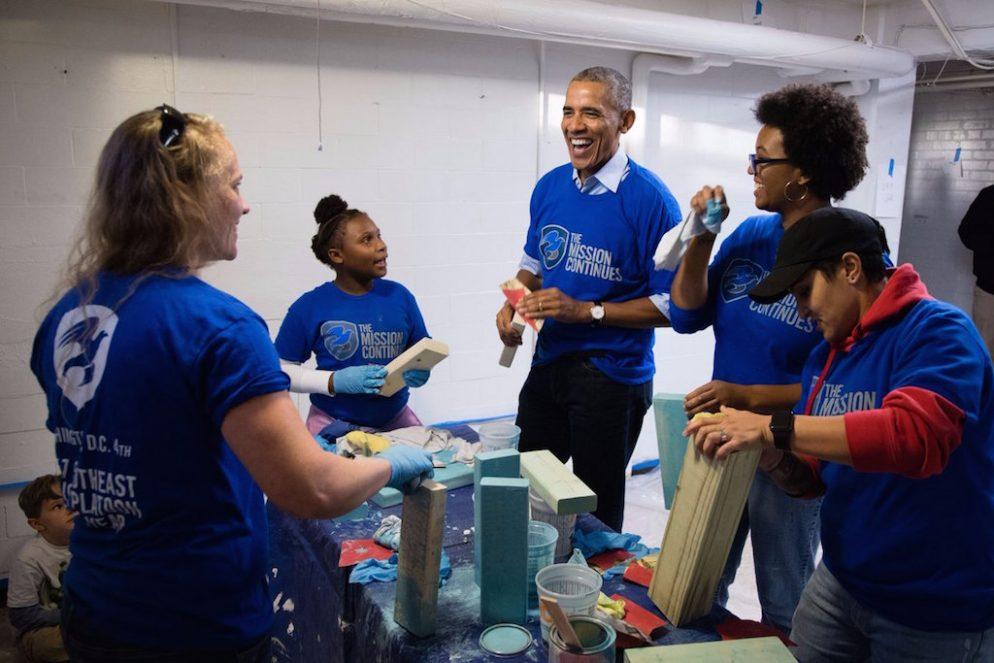 Obama Volunteered in DC Over Veterans Day Weekend