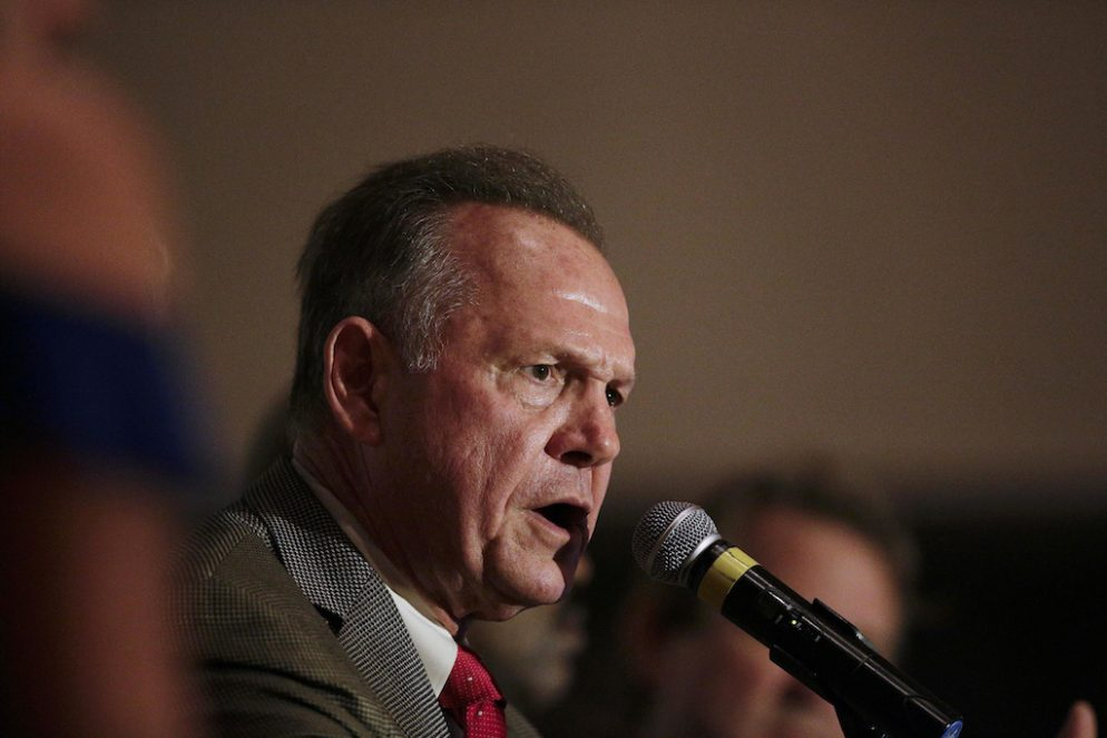 Roy Moore Didn't Deny Kissing Teenagers as 30-Year-Old in Call With Lawmaker