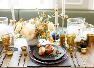 Tips To Transform Your Thanksgiving Table into a Modern, Marigold-Themed Wonderland