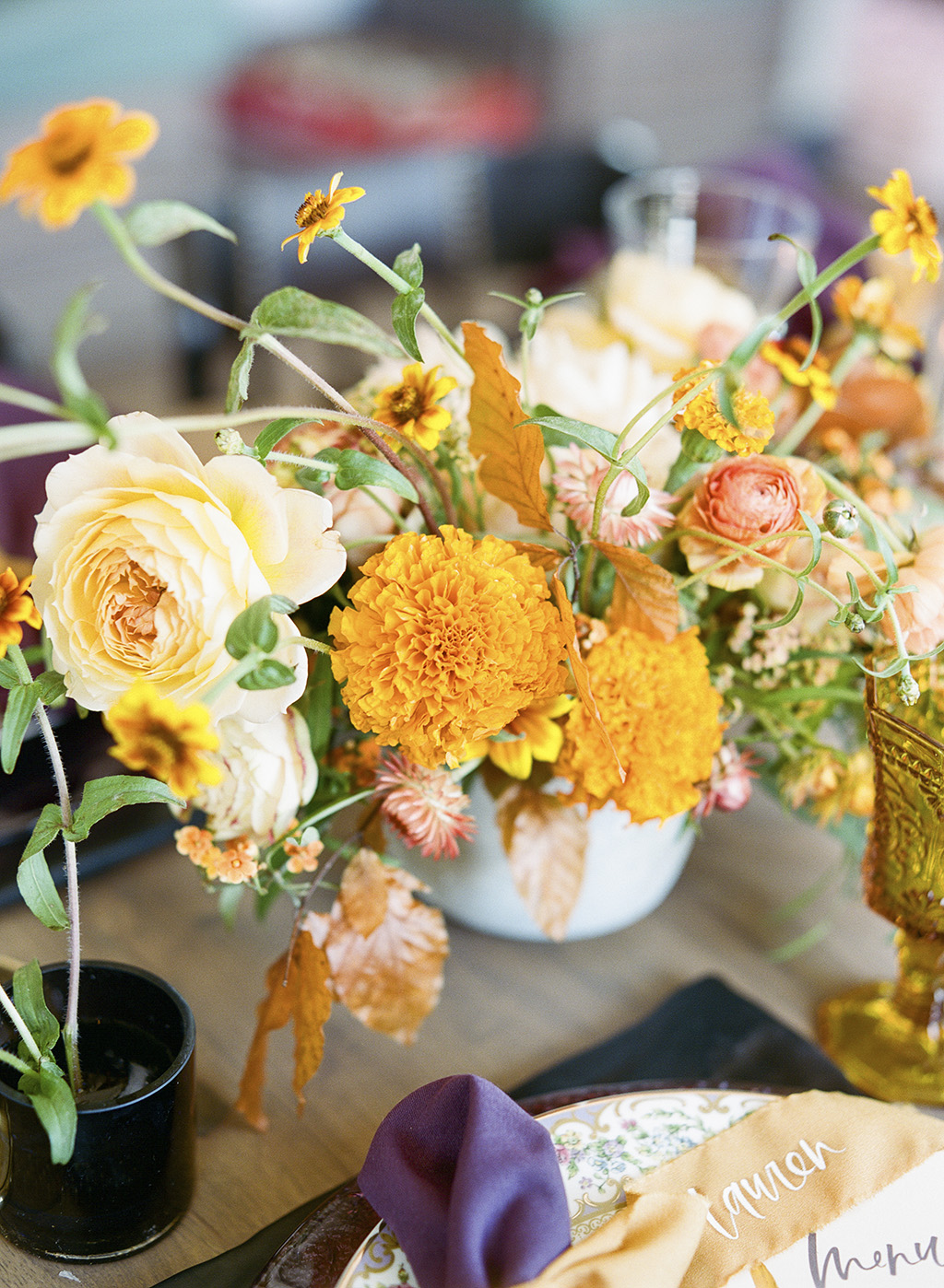 modern marigold yellow thanksgiving table lisa blume cheers darling dc sweetroot village
