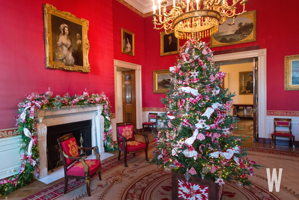 white house christmas decorations 2017 - Red Christmas Decorations