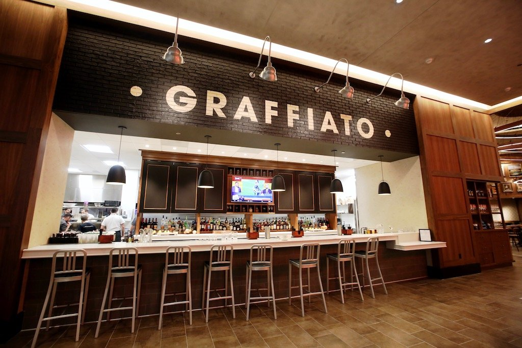 A Branch Of Graffiato Serves Thick Crust Pizzas Pastas And Italian American Snacks