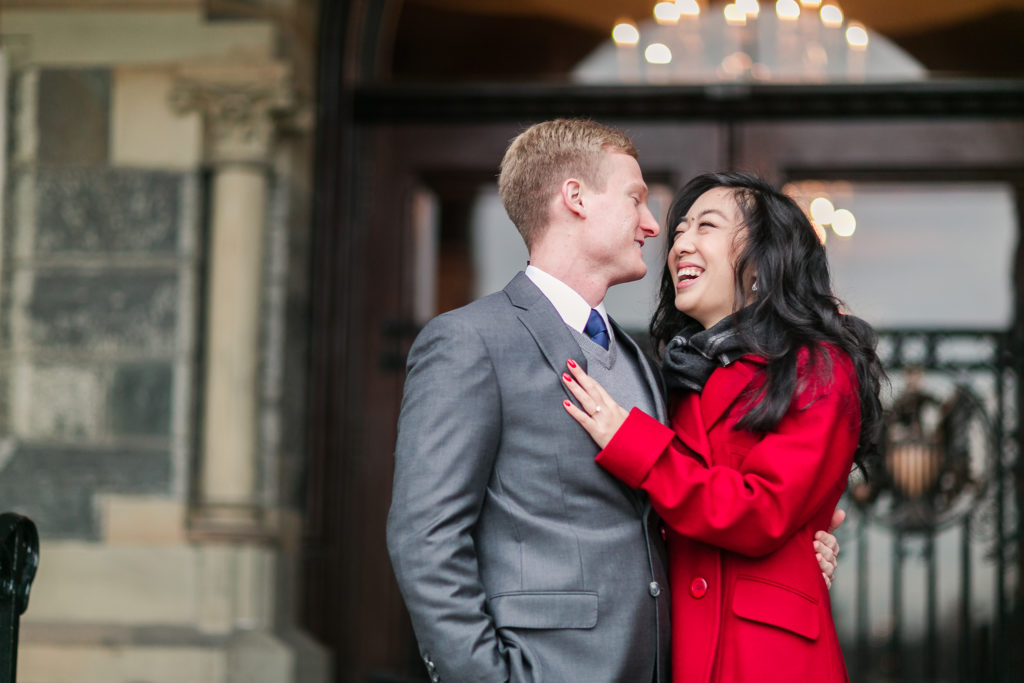 Christmas-Inspired Engagement Shoot