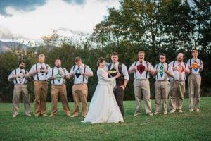 This Groom and His Groomsmen Went Undercover As Superheroes at His Rustic Virginia Wedding