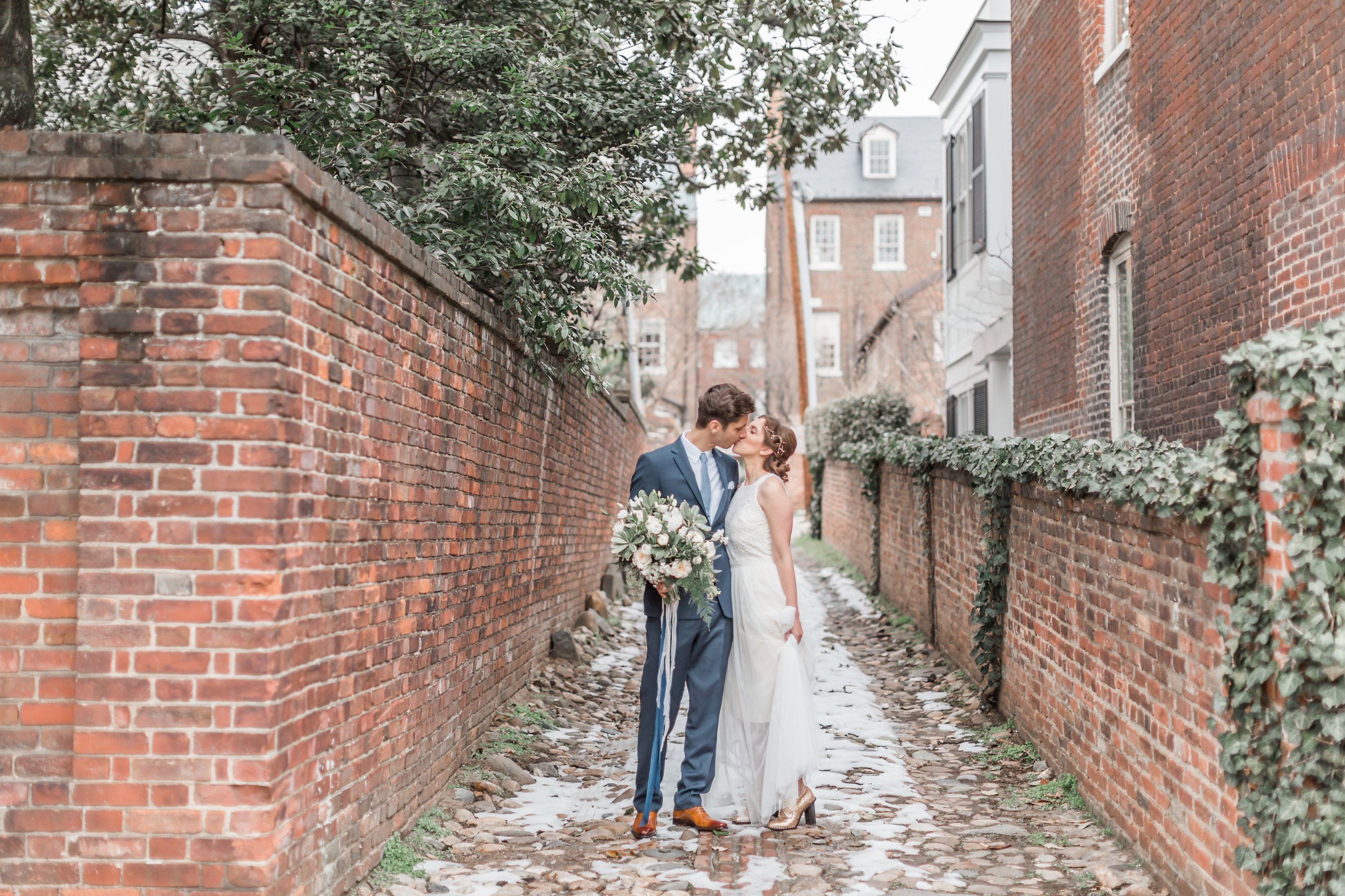 Engaged in December, Married in March: Melissa and Bogdan's Late Winter Wedding in Old Town Alexandria images 12