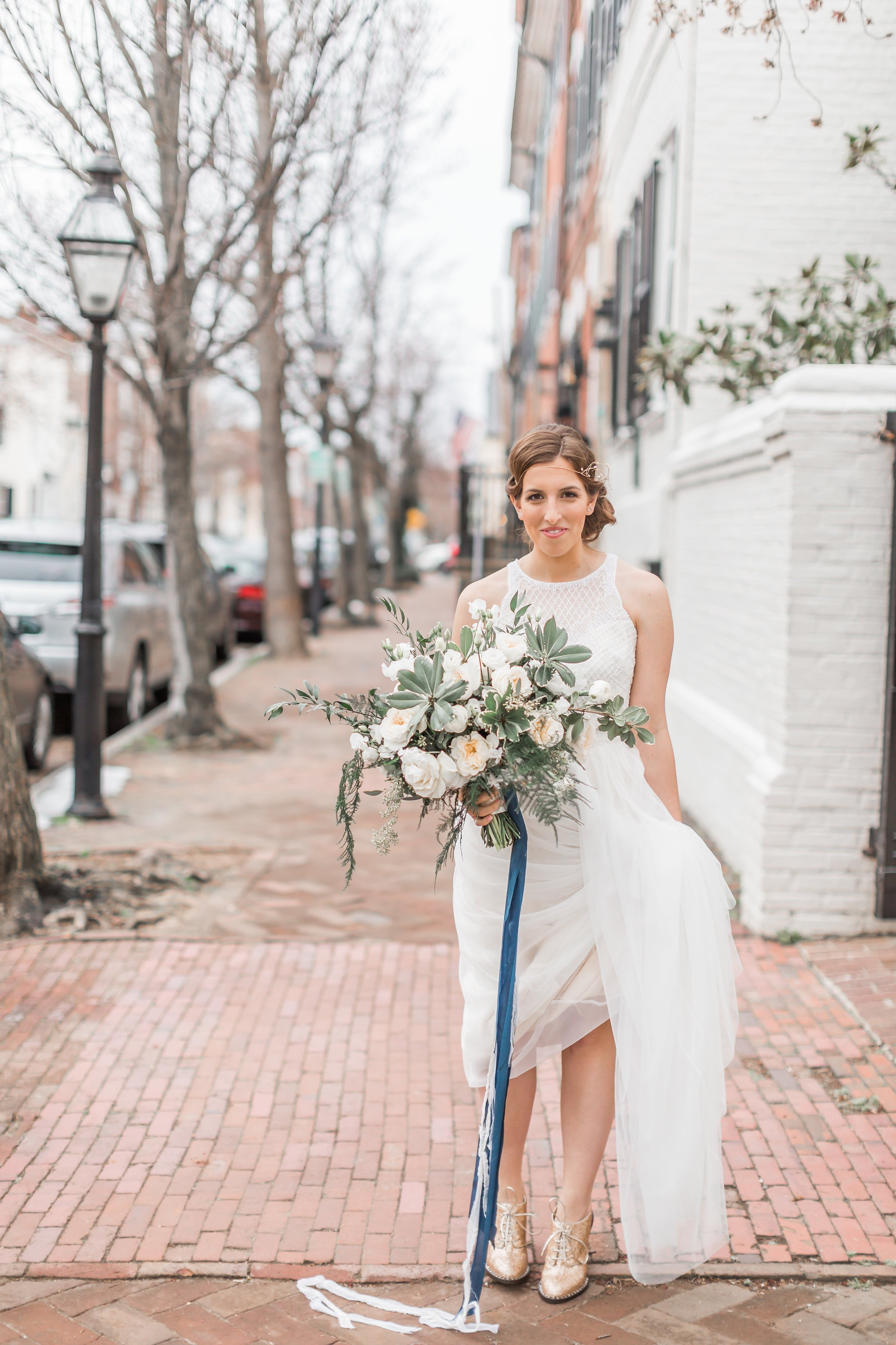 Engaged in December, Married in March: Melissa and Bogdan's Late Winter Wedding in Old Town Alexandria images 8