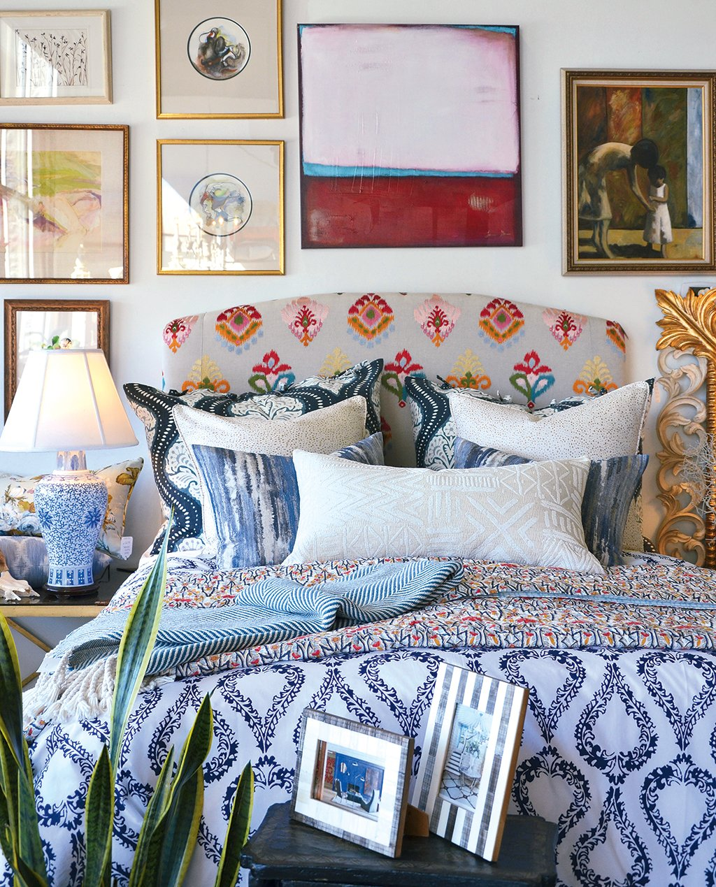 On Trend: Valerianne in Herndon specializes in luxury bedding and textiles. Photograph by Elizabeth Stevens