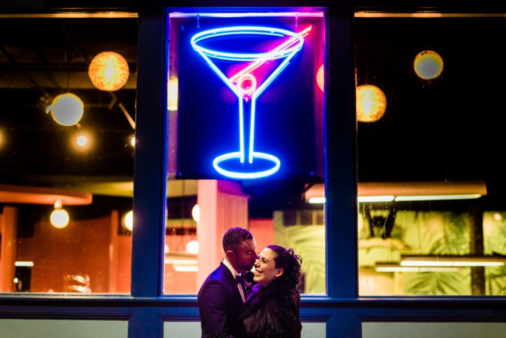 This Couple Ditched The Frills of A Formal Wedding for An Awesome New Years Eve Party at a DC Poolhall images 20