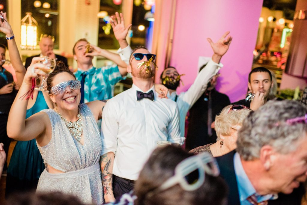 This Couple Ditched The Frills of A Formal Wedding for An Awesome New Years Eve Party at a DC Poolhall images 40