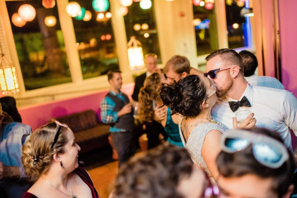 This Couple Ditched The Frills of A Formal Wedding for An Awesome New Years Eve Party at a DC Poolhall images 41