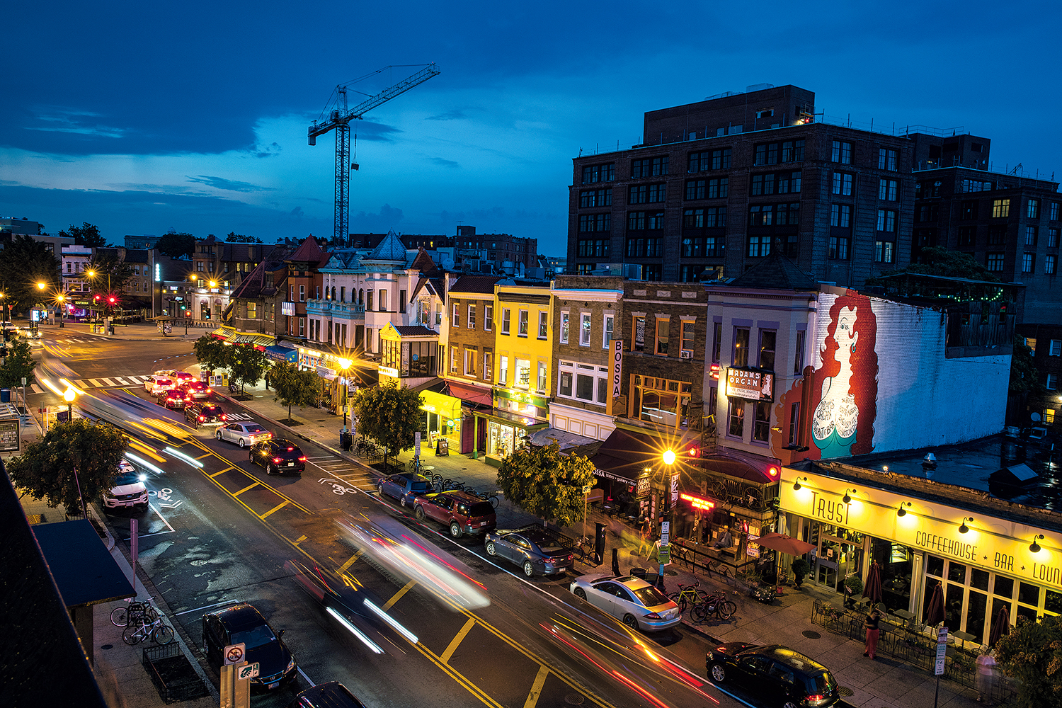 Evening in Adams Morgan. Photograph by Evelyn Hockstein/Getty Images.