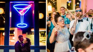 This Couple Ditched The Frills of A Formal Wedding for An Awesome New Years Eve Party at a DC Poolhall